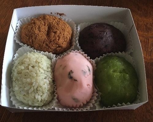 六月の六花亭 直営店限定和菓子 おおばぼた餅